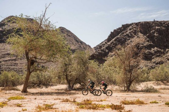 E-MTB safari of Namibia in Africa with H+I Adventures