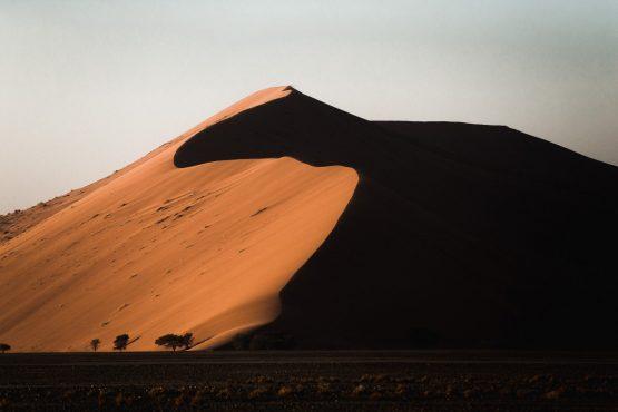 Taking in the mighty sand dunes on a mountain bike safari tour Namibia