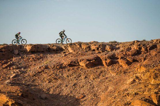 Evening hues on a mountain bike safari tour Namibia