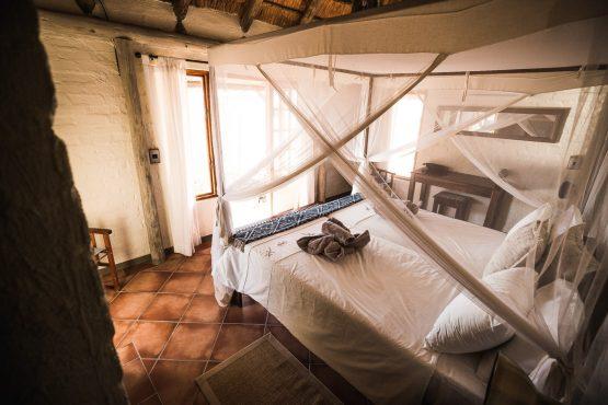 The accommodation on a mountain bike safari tour Namibia