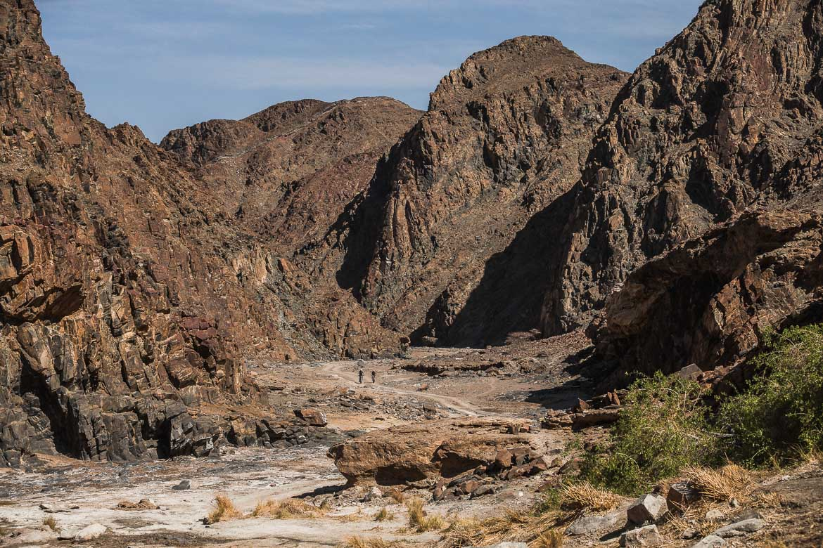 Heading deep into Damaraland on a E-MTB safari of Namibia