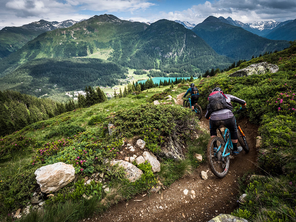 Impressive views in Switzerland as part of H+I Adventures favourite mountain bike moments in 2019.