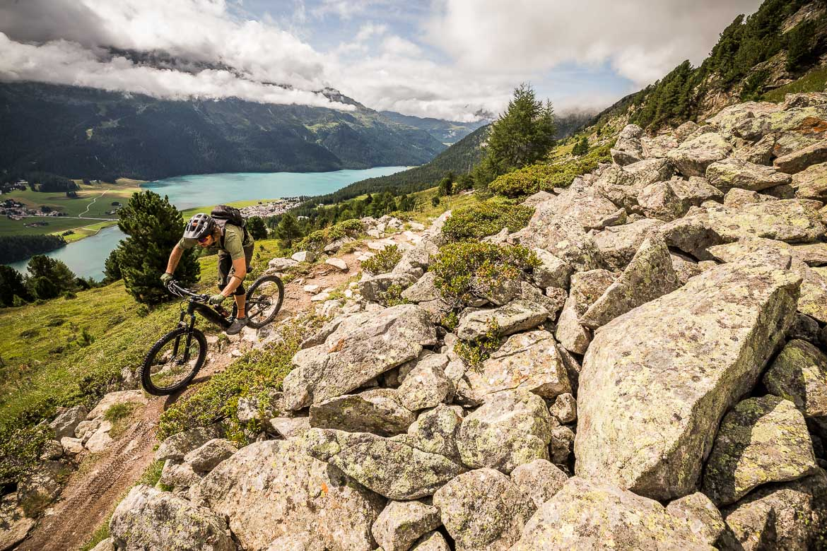 at home with local Swiss guide Dave Spielmann on a E-MTB tour in Switzerland