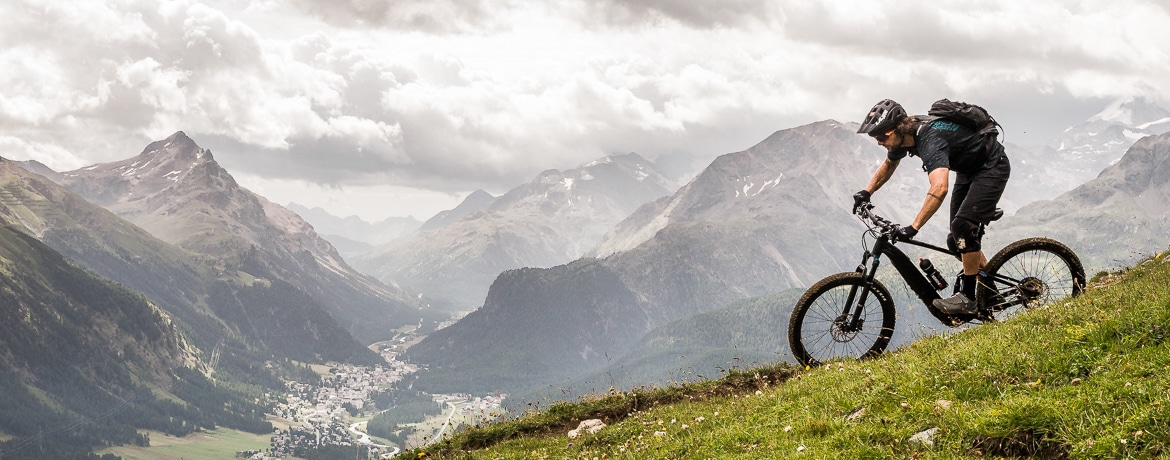 Header image for at home with local Swiss guide Dave Spielmann on a E-MTB tour in Switzerland