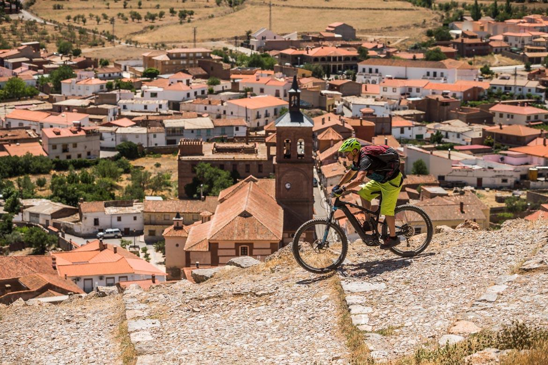 E-mountain bike guide Javier Morcillo in Spain